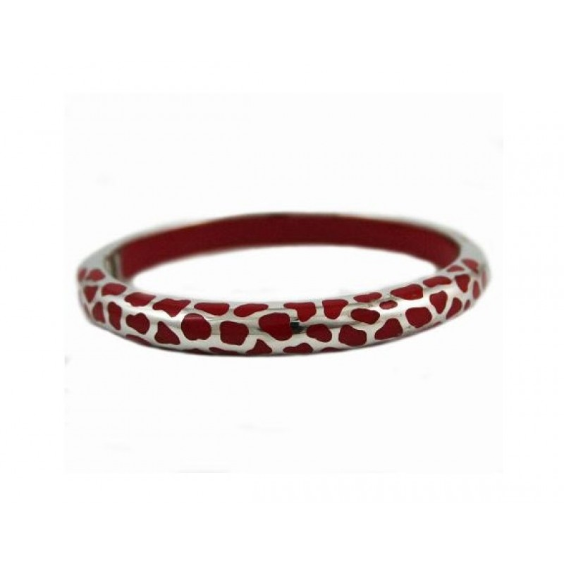 Angélique de Paris Safari Thin Opaque Red Bracelet 18192
