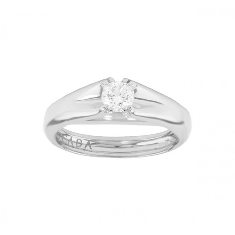 Escada Diamond Solitaire Engagement Ring Top 03T6-DQ