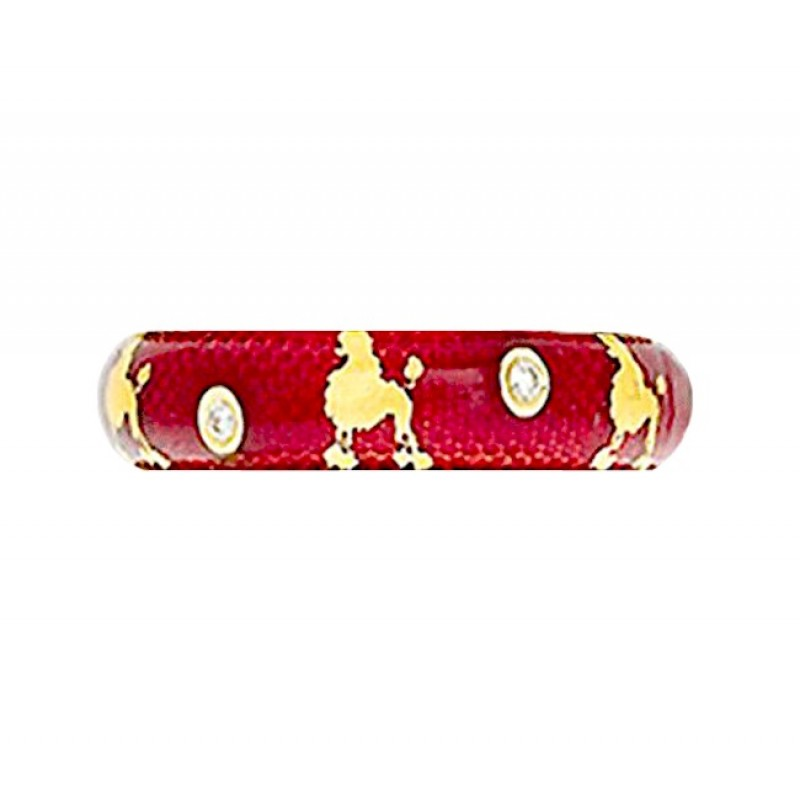 Hidalgo Poodle Enamel Ring RS7802R