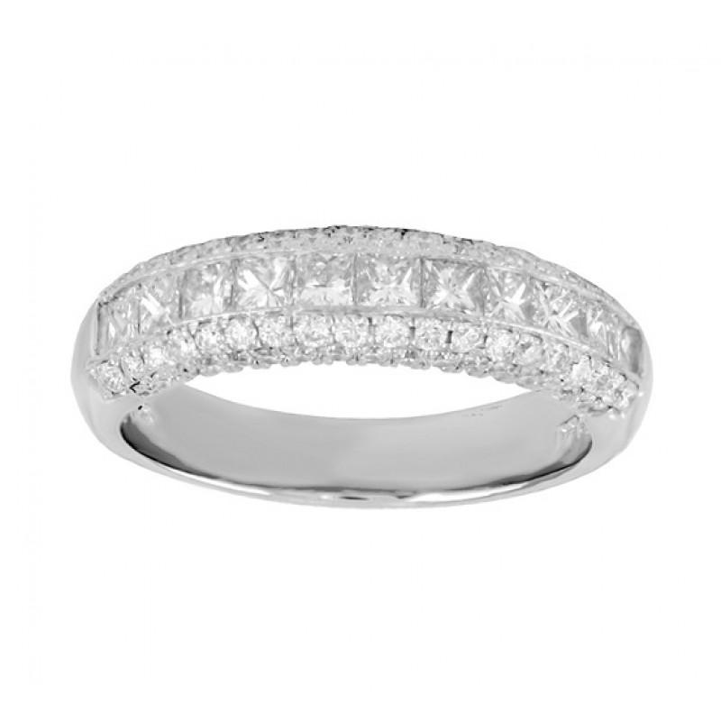 JB Star Princess Cut Diamond Ring Top 0463-001