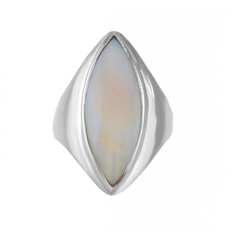Marquise Shape Mother of Pearl Ring Top 25212