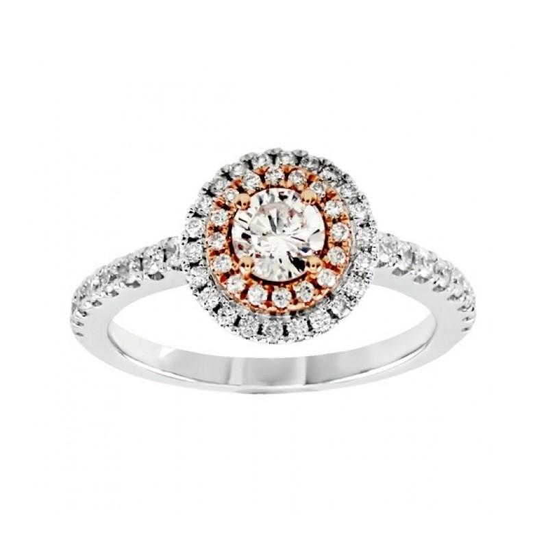 Round Diamond Double Halo Ring 25768