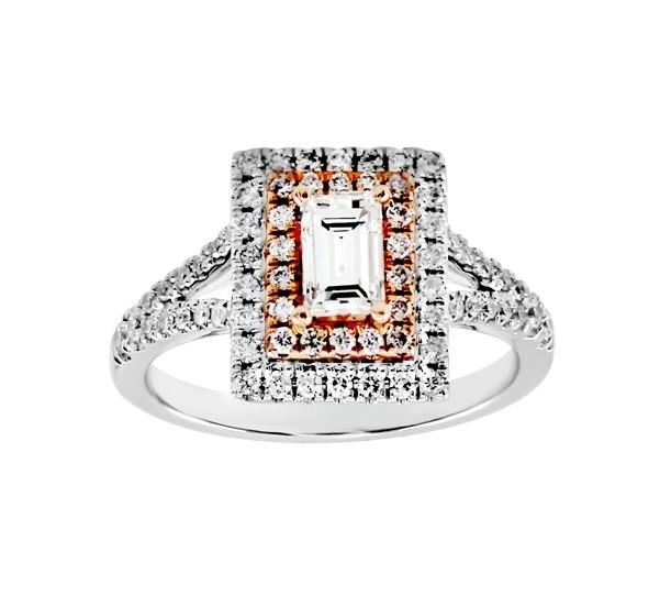 Baguette Cut Diamond Double Halo Ring 25760