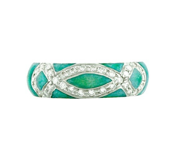 Hidalgo Enamel and Diamond Ring RR1142OBE