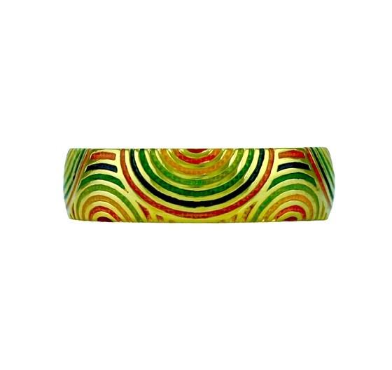 Hidalgo Multi Color Swirl Enamel Ring RS7093M