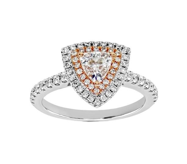 Trillion Shape Diamond Double Halo Ring 25766