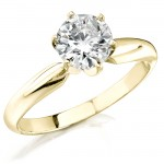 14k Yellow Gold 1 Ct. Solitaire Diamond Ring
