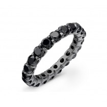 14k Black Gold Black Diamond Eternity Band 54802BLK-B