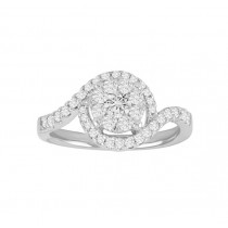 Diamond Cluster Engagement Ring 25135