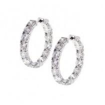 Inside Outside Diamond Hoop Earrings 28911