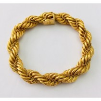 Ladies Braided Rope Chain Bracelet 16459
