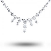 Lazare Small Icicle Diamond Necklace LJF00647