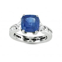 Sapphire and Diamond Eternity Ring 29183 Top