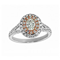 Split Shank Diamond Halo Engagement Ring 25757