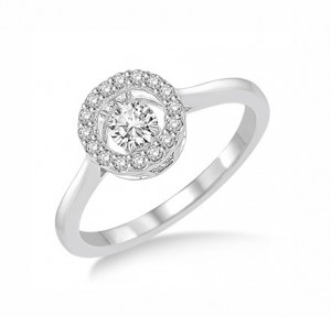 Circular Shape Dancing Diamond Ring 28160
