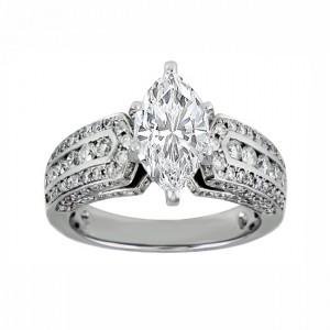 Marquise Diamond Engagement Ring 25338-27133