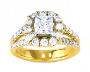 Split Shank Diamond Halo Engagement Ring Top 20589