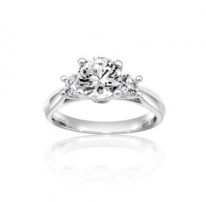 Trilogy Diamond Engagement Ring Top 24848-26918