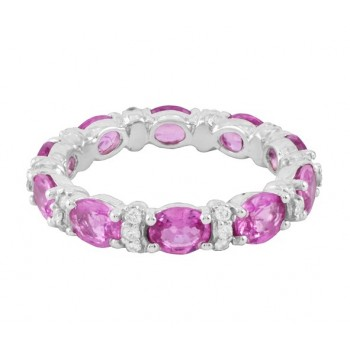Barry Kronen Pink Sapphire Eternity Ring Top S-2835WDPS