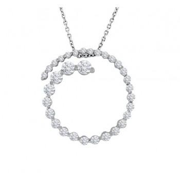 Circle Diamond Journey Necklace 11238
