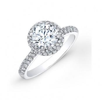 Double Halo Diamond Engagement Ring 23420