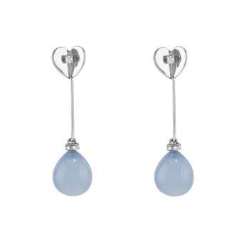 Escada Chalcedony and Diamond Dangle Earrings JH-OBDR