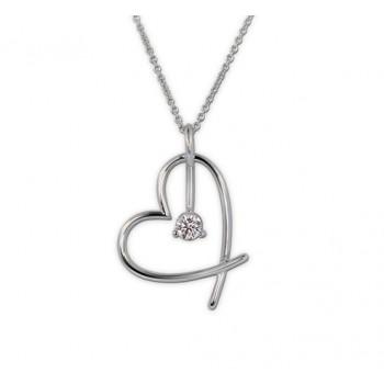 Lazare Hearts For Hope Diamond Pendant LP020K-43418W-P98