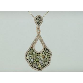 Multi Color and White Diamond Pendant 28796