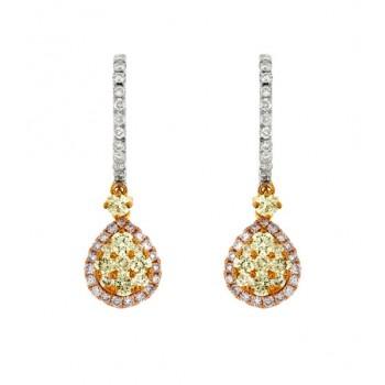 Multi-Color Diamond Drop Earrings 27760