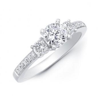 Three Stone Diamond Engagement Ring 20510ENG-W